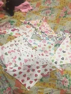 Baby cotton bib triangle carton used bundle