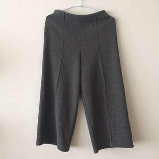 🚚 灰色修身寬褲