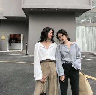 🚚 Vintage simple V neck top blouse #ENDGAMEYourExcess