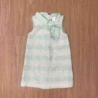 🚚 美國品牌Janie&Jack 綠色刺繡洋裝 3T