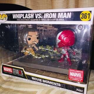Whiplash vs. Iron Man Movie Moments
