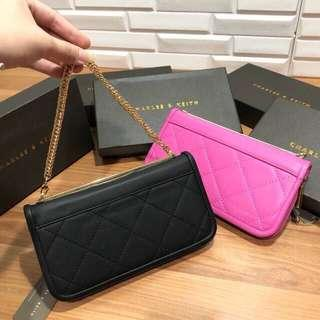 Charles & Keith Chain Quilted Wallet