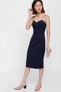 🚚 LB Geordie Bustier Midi Dress Navy #EndgameYourExcess