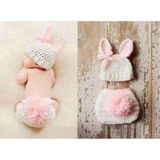Baby Bunny Knitted Costume Photoghrapy Prop