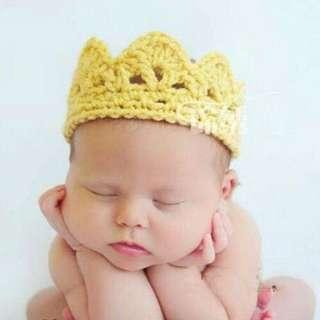 Baby Crown Knitted Costume Photoghrapy Prop