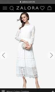 Zalora white lace dress