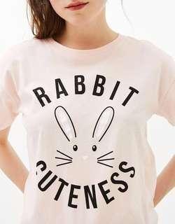 Bershka Original Pink Rabbit Tshirt