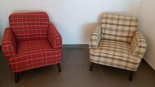 两張格仔小梳化Armchair