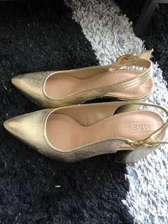 Gold Marks and Spencer Shoes Size 5 UK