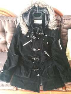 PSGB 絕版大衣外套  英倫 金屬 短絨毛 長版