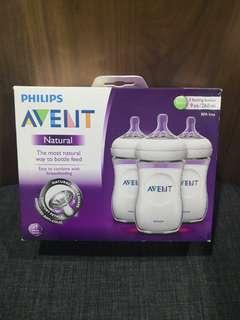 FLASH SALE Philips Avent Natural Bottle 3pcs /9oz #EST50