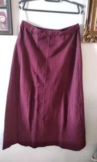 Preloved Maroon Skirt