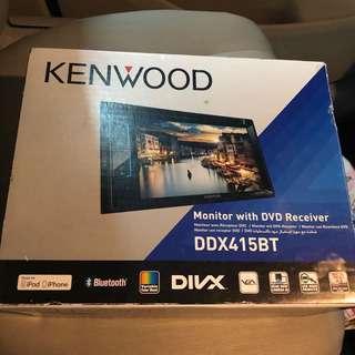 Kenwood DDX415BT 汽車藍牙音響 車機 DVD機 後泊鏡頭 有盒有説明書 (((非誠勿擾,價可小議)))