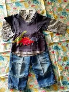 Kemeja h&m celana mothercare