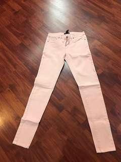 Mango jeans pink peach