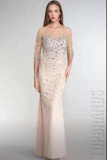 Elegant designer gown for special occasion. Only worn once!