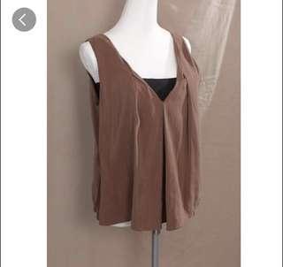 正韓貨 設計剪裁無袖背心上衣