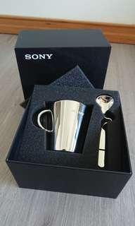 🚚 Sony 不銹鋼隔熱 咖啡杯組 含湯匙