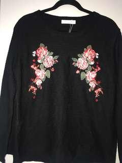 Flower design jumper