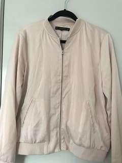 Zara pink bomber jacket