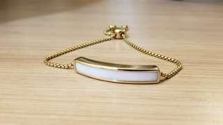Monica Vinader White Chalcedony 18ct gold bracelet