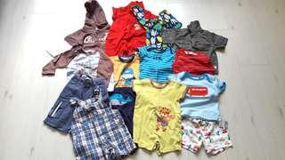 Bundle of 14 Preloved Baby Clothing (Fox Baby/Mothercare/Oshkosh)(6-12M)