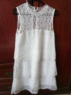 White Leaf Flora Lace Dress #SnapEndGame
