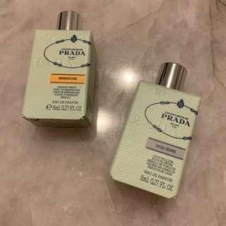 🚚 Set of 2 Prada Les Infusions Eau de Parfum Minis