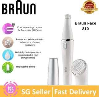 Braun Face 810 Facial Epilator, hair Removal and Facial Cleansing, with brush