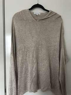 White closet slouchy jumper