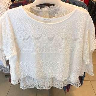 White Lace Top - Vintage