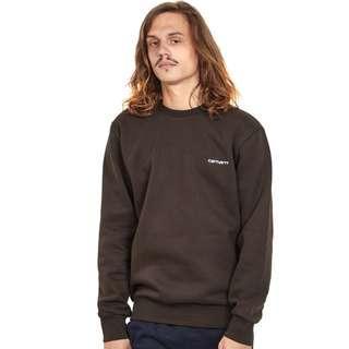 Carhartt WIP  啡色刺繡 Logo 衛衣 Sweatshirt