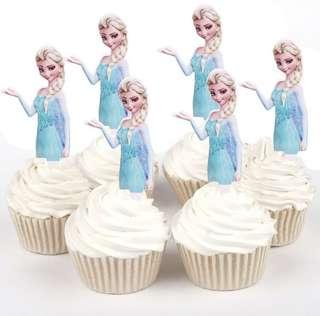 Brand New Frozen Elsa Cut-out Cupcake Toppers (25 pcs)