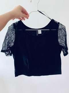 H&M black lacey top
