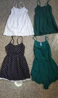Tops and green romper