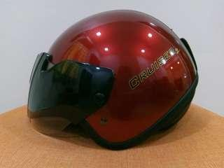SGV Helmet Cruiser 2 Metallic Red Clear Visor Size 60