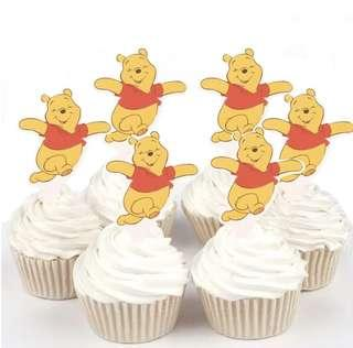 Brand New Winnie the Pooh Cut-out Cupcake Toppers