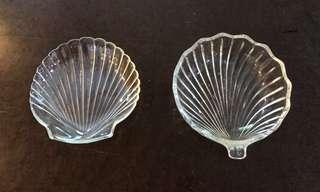 Shell scallop design bowl dessert condiments snacks