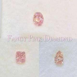 天然粉鑽石💎Fancy Pink Diamond  可代鑲戒指吊墜耳環頸鏈