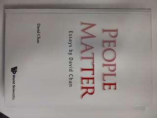 🚚 People Matter (Essays by David Chan - SMU Professor)