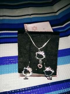 Hello Kitty項鍊耳環