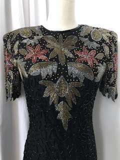 LAURENCE KAZAR Rare Vintage Evening Dress