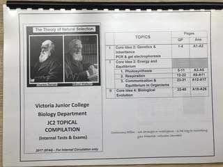 VJC H2 Bio 9744 JC2 Topical Compilation (Internal exams) with answers
