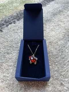 Swarovski Necklace 頸鏈 - red turtle with star