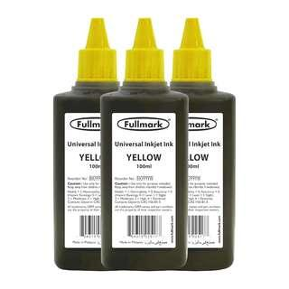 [FREE POSTAGE] Fullmark BI099 Universal Refill Inkjet Ink,3 x 100ml (YELLOW) - Compatible with HP/CANON/EPSON/LEXMARK/BROTHER