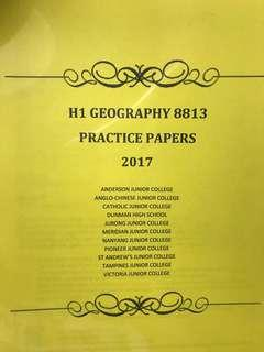 H1 Geography 8813 (Latest syllabus) Compillation of Prelim Papers 2017