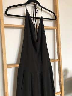 Jumpsuit - Halter & Open Back with zip