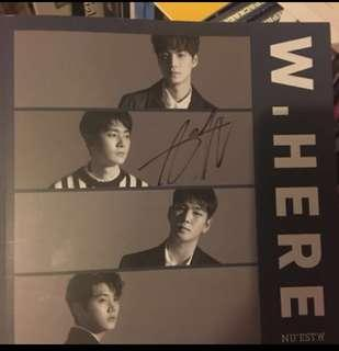 Nu'est W - W,here (portrait ver) [signed by Aron]