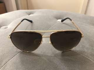 Gucci Aviator Metal Sunglasses with Web