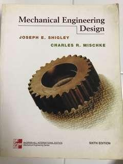 Mechanical Engineering Design by McGRAW-HILL Sixth Ed